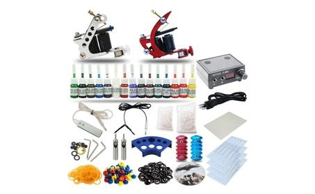 Complete Tattoo Kit 2 Machine Gun 15 Color Power Supply 20 Needles 8acae21a-c10b-4728-b5f9-32a70858edf9