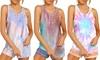 Women's Fashion Tie-Dyed Pajamas Vest Shorts Two-Piece Set