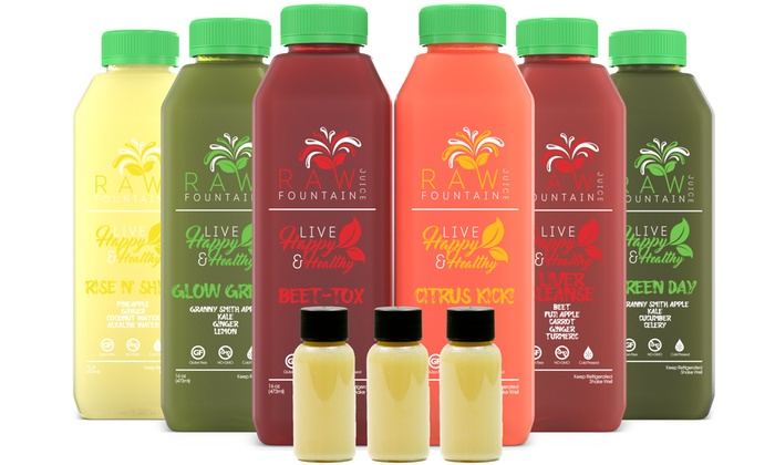 Up To 75 Off On Juice Cleanse Detox Cold Pr Groupon Goods