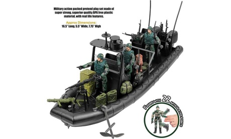 Click N Play Military Special Operations Dinghy Boat 26 Piece Play Set 8d60ae98-194f-4a0b-a2cf-8de75cb30ca1