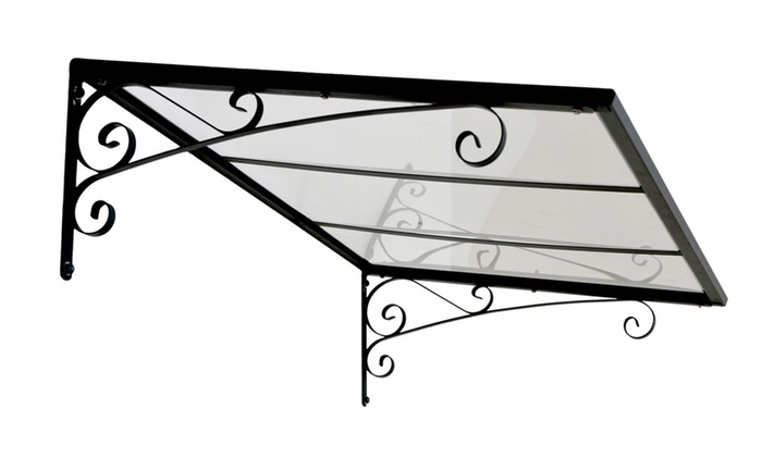 Gray / Clear Door Canopy Awning ...