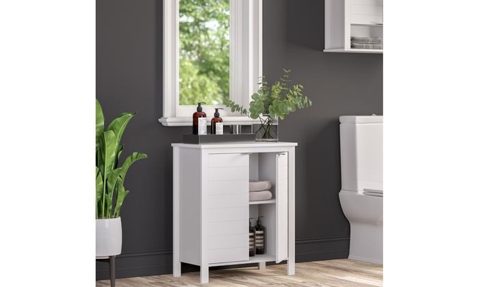 Enjoyable Madison Collection 2 Door Floor Cabinet White Groupon Home Interior And Landscaping Staixmapetitesourisinfo