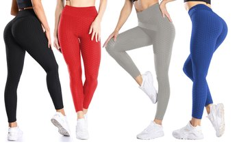 Women's Ruched High-Waist Leggings for Tummy Control & Yoga