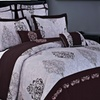 Gizelle 100% Cotton Embroidered 7 Piece Duvet Cover Set