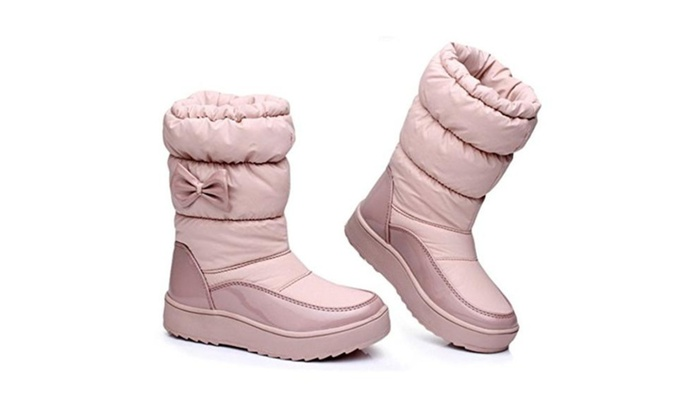 Women's Winter Warm Cute Fashion Snow Boots - Pink / 30-35