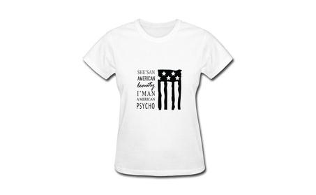 QDJT Women's American Beauty American Psycho Fall Out T-Shirt 9cddddb9-778d-41e4-b597-0750a87fa0b8