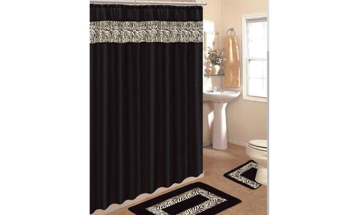 Bathroom Rug Contour Mat Shower Curtain