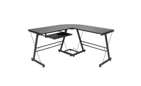 L-Shape Computer Desk PC Glass Laptop Table Workstation 1e6ceaf9-1a47-40f0-9d11-dc43a08bfec5