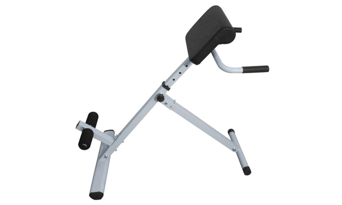 Ab Back Hyperextension Bench Roman Chair White For Lower