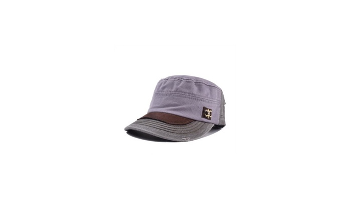 Men's Flat Crown Casual Casual Protection Flat Top Hat