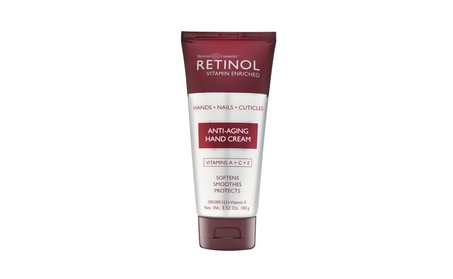 Retinol Anti-Aging Hand Cream Conditions & Protects Skin & Nails