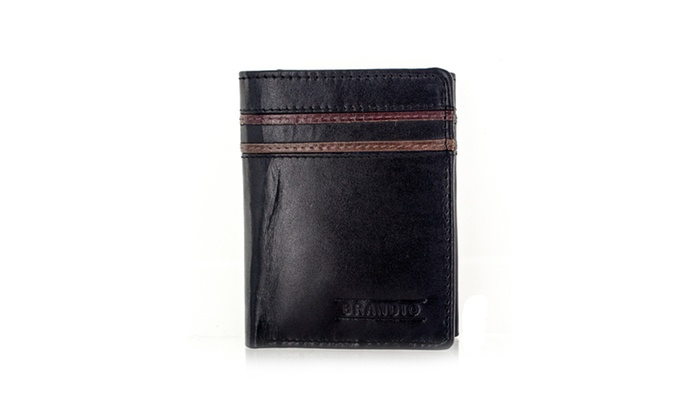 Faddism Series Men's Genuine Leather Bifold Wallet With Dual Wallet