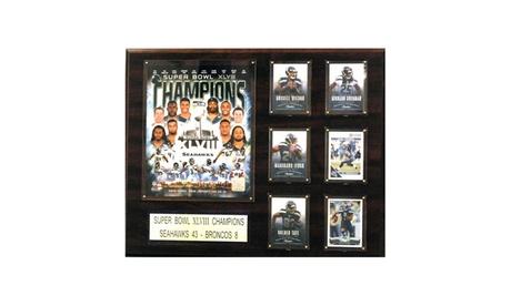 "NFL 16""x20"" Seattle Seahawks Super Bowl XLVIII Champions Plaque dd747208-719a-45f7-b31c-96874dd14ac1"