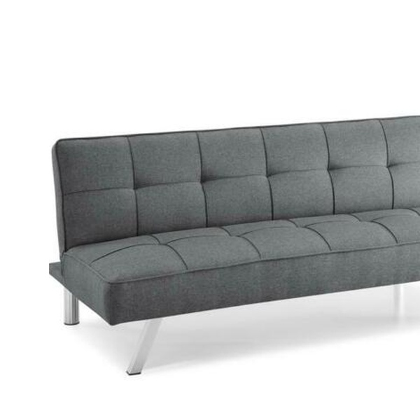 Modern Futon Sofa Couch Bed Sleeper Convertible Lounge Living Room Brown Gray
