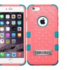 Insten Pink Blue Hybrid Silicone Cover Case Stand For Iphone 6 Plus