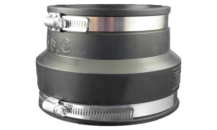 Aviditi 94041AVI Rubber Coupling, Clay by PVC/CI, 4-Inch