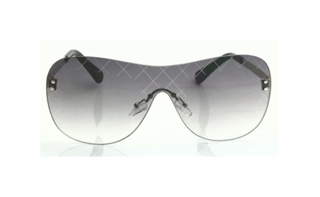 Shield Rimless Runway Model Women Designer Sunglasses Metal & Plastic cfe86d4d-00cb-42c6-b048-00cdae0bfb8b