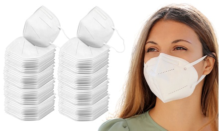 Multilayer KN95 Non-Woven Breathable Face Masks with Nose Bridge (5 - 200-Pack)