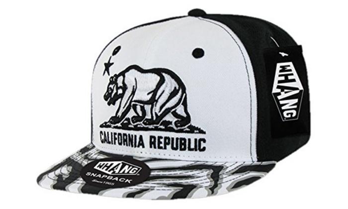 94c9a595324dc Decky W30-WHTBLK Ziger California Bear Snapback Cap