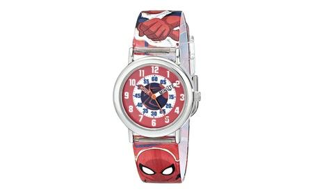 "Marvel Kids' SPMKQ500 ""Spider-Man Time Teacher"" Watch 99d514a0-bded-45f8-bc85-3f20913ced5f"