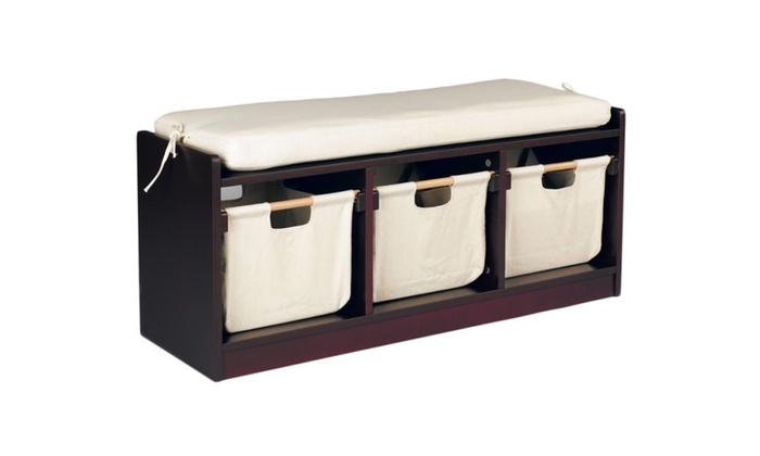 Sunnywood 4409BW Wonkawoo Deluxe Childrens Storage Bench, Brown