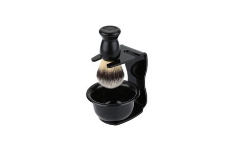 Universal Black Acrylic Shaving Brush Razor Stand Holder Set 61a494d0-26a2-4002-8150-3728294f235e