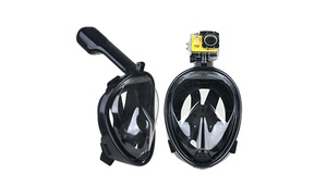 Dry Dive Full Face Snorkel Mask with GoPro Mount Breathe Free Design at ITCI, plus 6.0% Cash Back from Ebates.