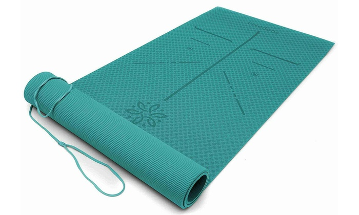Up To 20 Off On Ewedoos Yoga Mat With Alignme Groupon Goods
