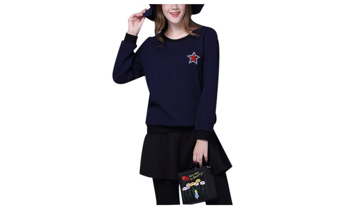 Women's Regular Fit Casual Simple Pullover Pullovers