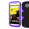 Insten Hard Hybrid Case For Motorola Moto E 2nd Gen Black/purple
