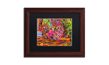 Josh Byer 'Nude Woman As A Bowl Of Fruit' Matted Wood Framed Art 7fdc3dd0-4052-49b3-b4dc-fe85148cbe98