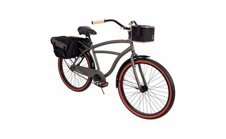 """Huffy 26"""" Surfside Mens Cruiser Bike with Perfect Fit Frame, Charcoal 1ec9e690-720e-4c59-a4ba-94865390bf0c"""