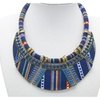 Bohemia Collar Tribal Ethnic Vintage Navy Big Necklace for Women
