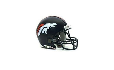 Denver Broncos Replica Mini Helmet with Z2B Face Mask 54106c59-adf9-42f0-b02f-367466ad1851