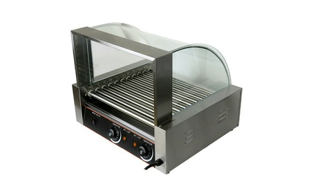Commercial 2200w 30 Hot Dog Maker 11 Roller Stainless Electric Sausage 978646f5-d2c7-48b6-9136-fc5705014e31