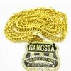 Men's Cool Hip Hop ''Gangsta'' Pendant Golden Necklaces