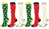 Women's Knee-Length Patterned Compression Socks (3 or 6 Pairs)