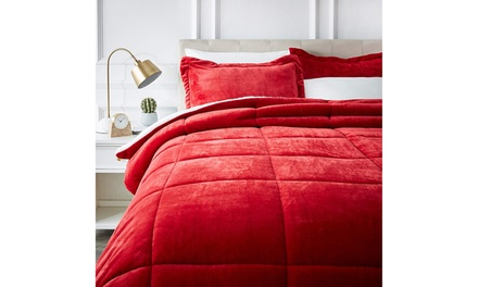 Ultra-Soft Micromink Sherpa Comforter Bed Set - King Was: $500 Now: $89.99.