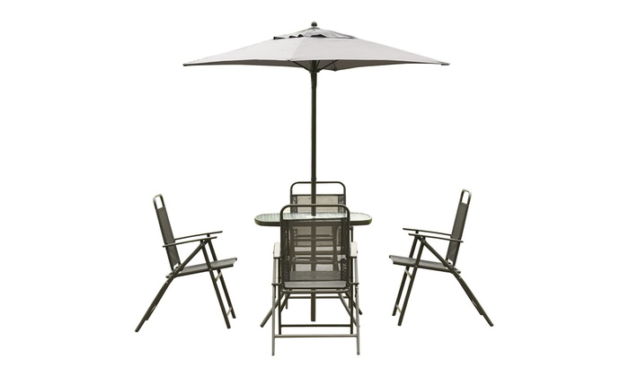Stupendous Costway Patio Garden Set Furniture With Folding Chairs Table Machost Co Dining Chair Design Ideas Machostcouk