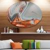 Beautiful Lake Superior Agate' Disc Abstract Metal Circle Wall Art