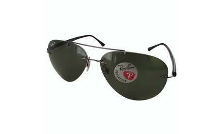 Ray Ban Mens RB8058 Polarized Sunglasses 58984648-56d0-4462-86e4-bbb325e3998f