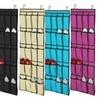 New 20 Pocket Over Door Shoe Organizer Space Saver Rack Hanging