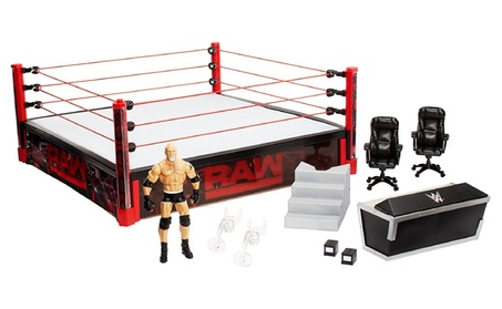 WWE Elite Collection Raw Main Event Ring Playset f73b53dc-d25d-46da-a687-4a5af248d7cd