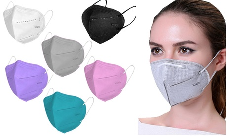 30-Pack Multi Color KN95 Face Masks With Breathable Fabric And Elastic Ear Loop