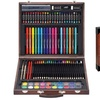 96 pcs vintage art set with markers, color pens, oil pastels, brushes and more