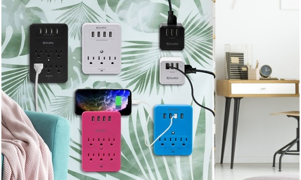 Aduro 3- or 6- Outlet Surge Protector & Charging Station with Multi USB Ports