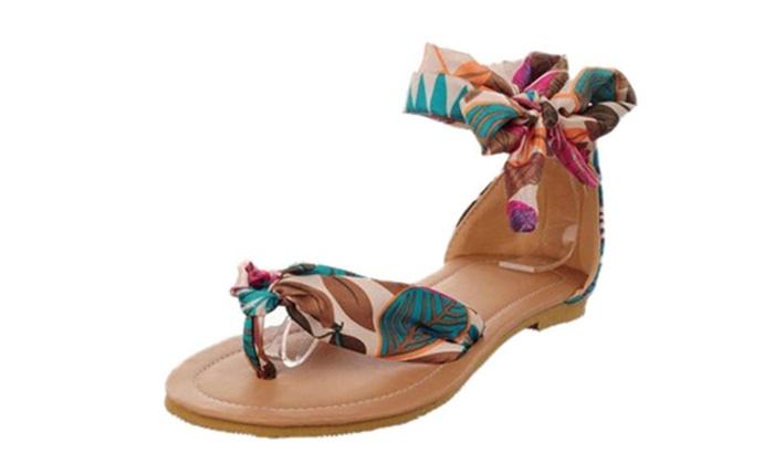 Women's Ashley Summer Silk Flat Sandal