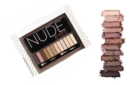 12 Color Includes Nude Eyeshadow Palette with Application Brushes a3ae39a9-1e33-48eb-b55e-6580b84bb03a
