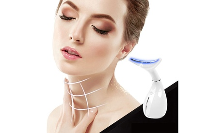 LED Neck Beauty Care Massage Wrinkle Remove Double Chin Remover Vibration Device
