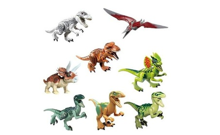 8x Jurassic World Dinosaurs Brick Blocks 80a849f9-302c-49c7-94b7-1da32f58b097